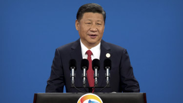 Chinese President Xi Jinping attends the opening ceremony of the Belt and Road Forum last year.