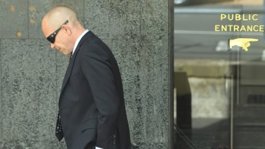 David Owen Renshaw arrives at the NSW Supreme Court on Tuesday.