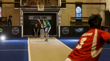 A church hall in Hawthorn has been converted into a cricket venue.