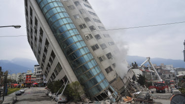 Scores of people are missing after a powerful earthquake struck.