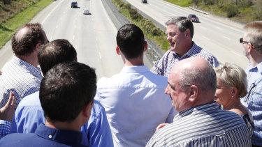Opposition leader Tim Nicholls on the Gold Coast on Saturday.