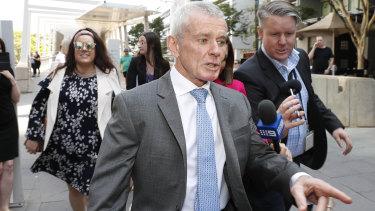 One Nation Senator Malcolm Roberts outside court in Brisbane.