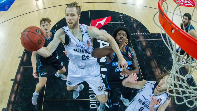 David Barlow in action for Melbourne United.