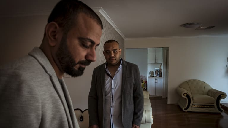 Please let us stay: As Coptic Christians, asylum seekers Michael Ramzy, left, and cousin Raed Mikhael say they will be in danger if the Australian government sends them back to Egypt.
