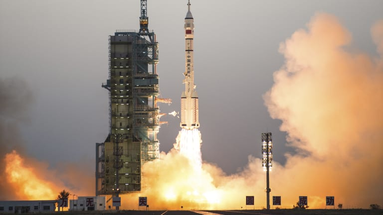 A Chinese Long March-2F carrier rocket.