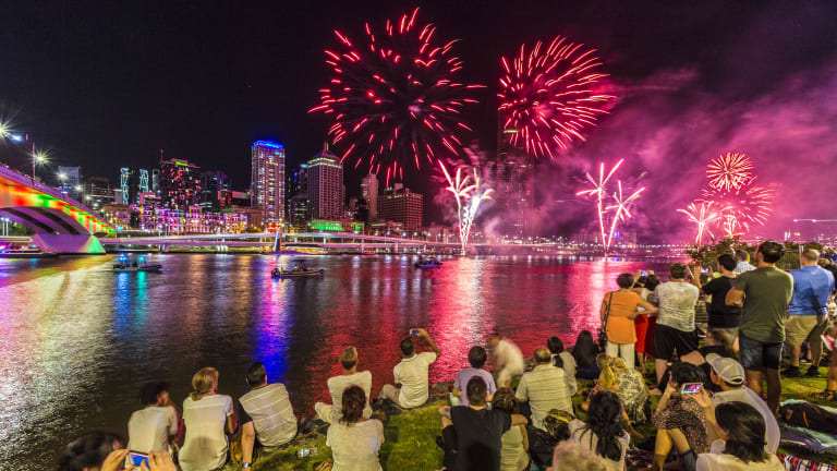 Weather experts say heavy rain is a certainty during New Year's Eve celebrations in Brisbane with hail, damaging winds and lightning also on the cards.