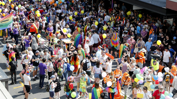 Thousands flood inner-city for Brisbane Pride march