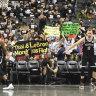 Fans support Hong Kong, Tibet at NBA game in New York