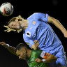 Melbourne City survive late scare against Marconi