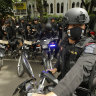 Indonesian police are hunting for the militants blamed for the deaths.