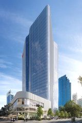 Once completed the tower will be the highest spec office space in Perth.