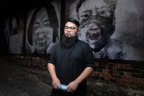 Badiucao, Shanghai-born political cartoonist, artist and rights activist