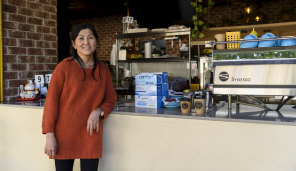 Queenie Thai, a worker at Phoodle Vietnamese Eatery.