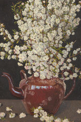 Double almond blossom in teapot by Lucy Culliton (2018), from her recent sold out show.