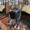 Three weeks after fires razed their home, the Girvans have received just $1120 in aid
