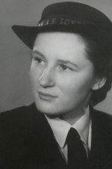 Jess Flanders as a member of the Women's Royal Australian Naval Service.