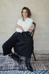 """Brooke wears Witchery shirt. High by Claire Campbell pants. Céline by Hedi Slimane """"Berlin"""" boots."""