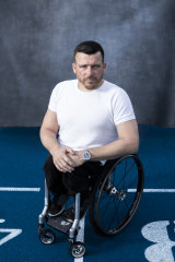 Paralympian and NSW 2019 Australian of the Year Kurt Fearnley's gloves are on display at an exhibition at the National Museum of Australia.