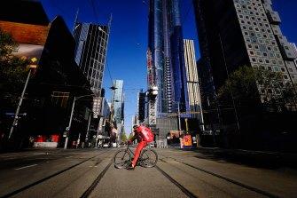 Melbourne in lockdown.