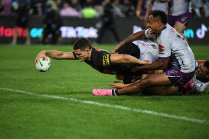 Nathan Cleary's late, late try set up a frantic few finals seconds.