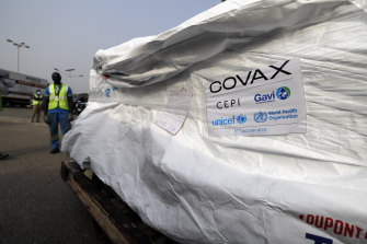 Shipments of COVAX-supplied vaccines arrive in Accra, Ghana, in February.