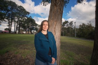 Heathmont resident Alex Kingsbury opposes a planned multi-level car park at her local station.