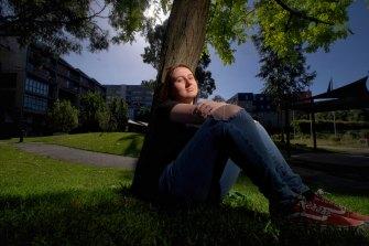 Chinese language student Maddison Sklenar at Swinburne University's Hawthorn campus.