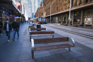 A quiet George Street in Sydney's CBD.