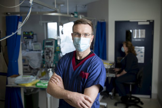 Dr Stephen Warrillow, director of the ICU Ward at the Austin Hospital in Heidelberg on Thursday.