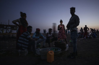Tigrayan refugees who fled the conflict in the Ethiopia's Tigray at Hamdeyat Transition Centre near the Sudan-Ethiopia border, eastern Sudan.