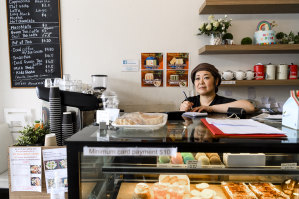L'eclaire Patisserie owner Takako Osaki says taking traffic off Military Road would help her business.