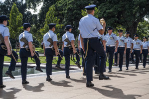 The Royal Air Force Association (NSW branch) led a service at the Anzac Memorial in Hyde Park  for centenary commemorations.