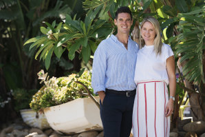 Andrew Goldsmith and Pip Robb at their original Palm Beach venue.