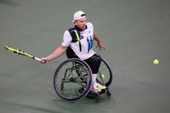 Dylan Alcott was unable to add to his doubles success at Flushing Meadows, falling in three sets to Sam Schroder in the US Open men's wheelchair quad singles final.