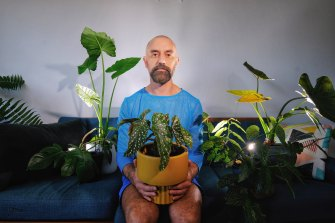 Luke George and his plant companions.