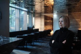 Vicki Wild at the new Melbourne dining precinct.