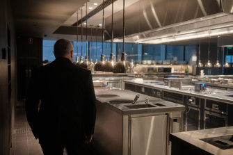 Lucas in the Society kitchen.