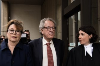 Australian actor Geoffrey Rush launched a defamation case against The Daily Telegraph.