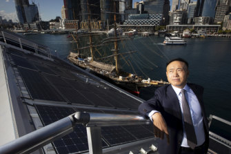Shi Zhengrong, the founder and chief technology officer of Sunman - the company that has produced new light-weight solar panels that will slash power bills at the National Maritime Museum in Sydney.