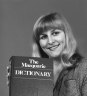 Herald staff member Val Hopwood with a copy of The Macquarie Dictionary on September 23, 1981