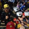 The sun shone hot, but Ricciardo provided the yellow glow at the Park