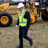 Bulldozers begin major earthmoving job at Sydney's second airport site