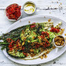 Karen Martini's charred broccoli and shallot salad with tahini dressing