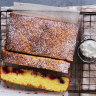 Helen Goh's lemon brownies with winter berries
