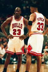 Michael Jordan and Scottie Pippen were the Bulls' dynamic duo in the 1990s.