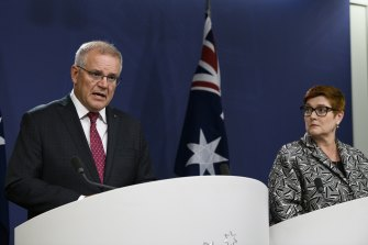 Prime Minister Scott Morrison and Foreign Minister Marise Payne announce a pause on direct flights from India to Australia.