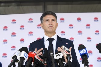 NSW Minister for Digital and Customer Service Victor Dominello was reclassified and allowed to leave isolation.
