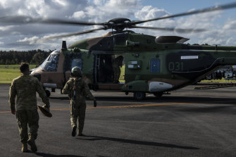 The Australian Defence Force has been assisting with the flood recovery efforts.