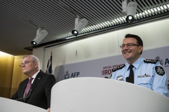 Prime Minister Scott Morrison and Australian Federal Police Commissioner Reece Kershaw said the operation had resulted in a heavy blow against organised crime.