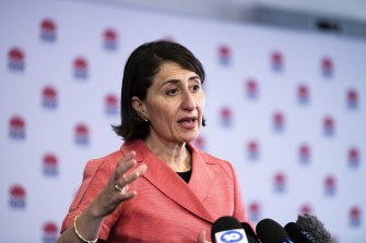 NSW Premier Gladys Berejiklian banned Sydneysiders from watching the fireworks up close on New Year's Eve.